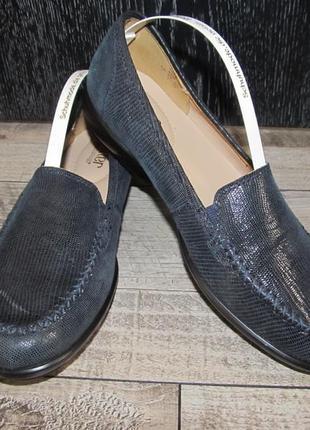 Hotter кожаные туфли балетки  р. 39 - 25cм