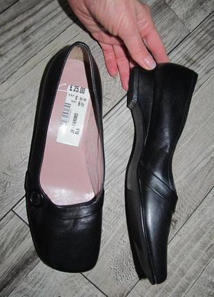 Clarks  кожаные туфли балетки  р. 6,5 - 25,5см