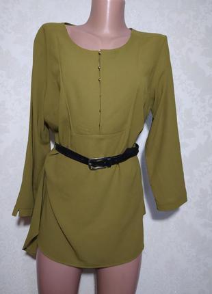 Шикарная блуза оливкового цвета