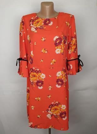 Платье цветочное модное оранжевое atmpsphere uk 16/44/xl