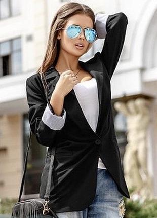 Чёрный современный пиджак