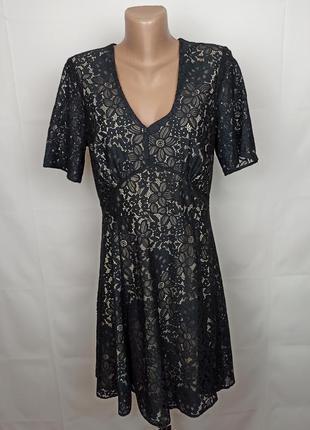 Платье шикарное нарядное кружевное asos uk 14/42/l