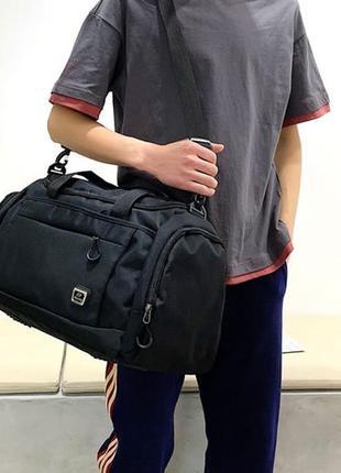 Сумка на фитнес с отделом для обуви. спортивная сумка для трен...