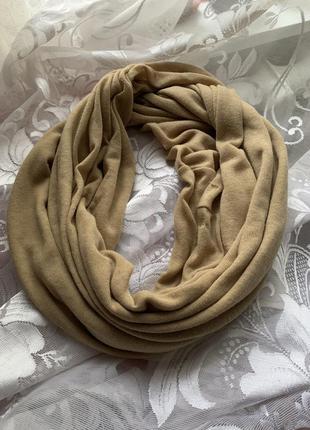 Легкий шарф- снуд. круговой шарф