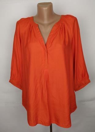Блуза рубаха вискозная красивая оранжевая monsoon uk 12/40/m