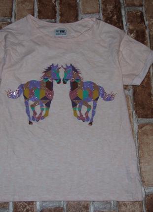 футболка девочке котон 9 - 10 лет Marks&Spencer