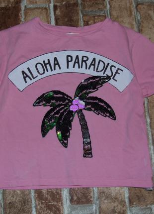 футболка хлопковая девочке 5 лет Zara