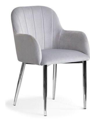 Кресло Tulip серебро+хром Atreve
