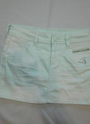 Юбка джинсовая модная летняя на девочку 11-12 лет 152 см