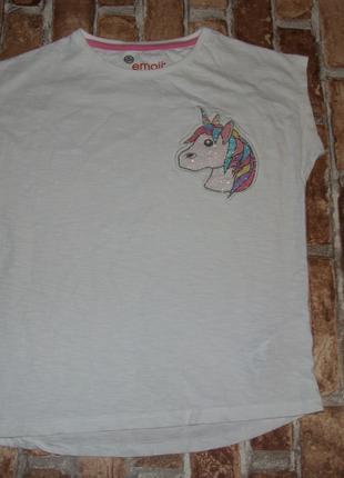 футболка девочке котон единорог 9 - 10 лет Marks & Spencer