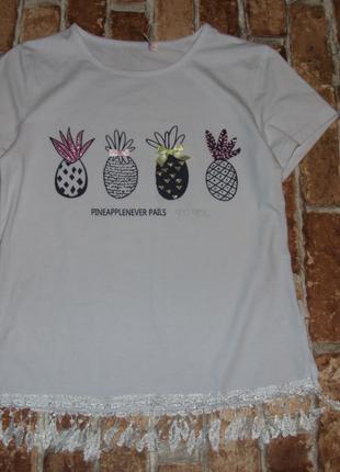 футболка девочке 10 - 12 лет