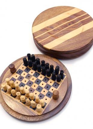 """Шахматы из красного дерева """"походные"""""""