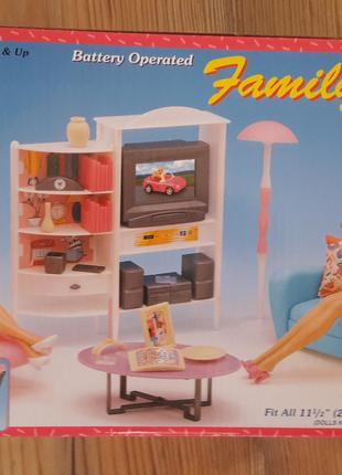 Мебель для барби ТМ Глория гостиная с телевизором