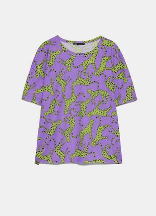 Яркая хлопковая футболка zara