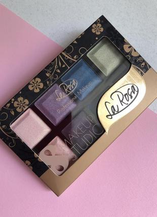 Тени для век la rosa make up studio 8 цветов палитра 01