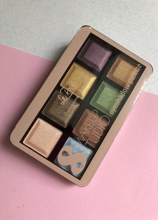 Тени для век la rosa make up studio 8 цветов палитра  02