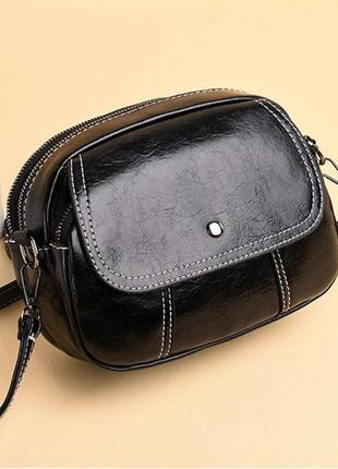 Маленькая сумочка бочонок через плечо жіноча сумка кроссбоди