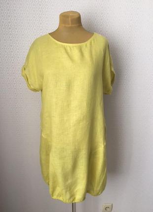 Солнечное льняное платье для жаркого лета, италия, размер укр ...