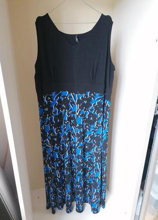 Длинное платье в пол батал большой размер (к083)