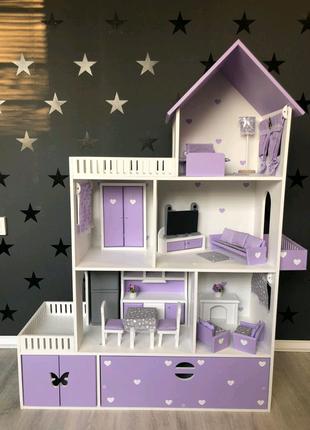 Кукольный домик, детский домик, домик для кукол барби