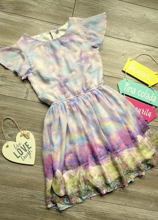 Платье с единорогами tu 11-12