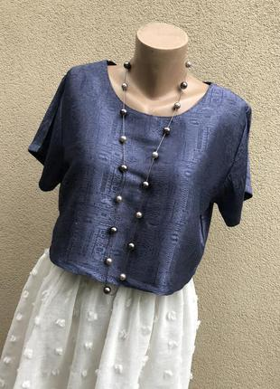 Винтаж,укорочённая блуза,рубаха,топ,тайского 100% шелка,шелков...