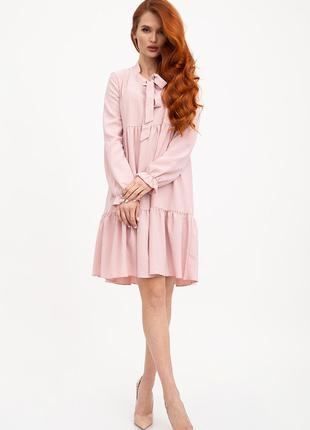 Платье женское цвет пудовый