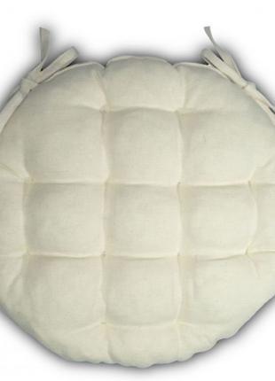 Подушка на стул круглая 36*36*5 Лен