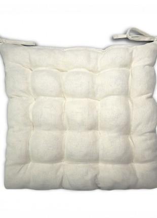 Подушка на стул квадратная Лен 37*37*5