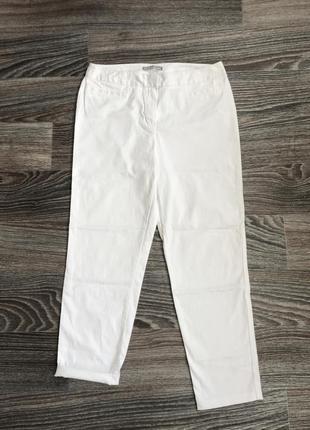 Белоснежные белые плотные хлопковые классические брюки штаны m...