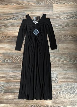 Новое шикарное вечернее макси длинное платье, голубой бисер и ...