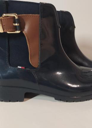 Короткие резиновые сапоги ботинки tommy hilfiger 39