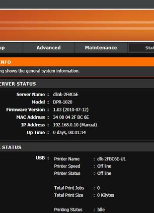 Принт-сервер D-Link DPR-1020