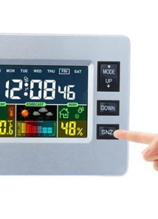 Будильник-гігрометр температура, вологість, прогноз погоди