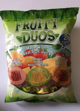Карамельные конфеты леденцы с фруктовой начинкой