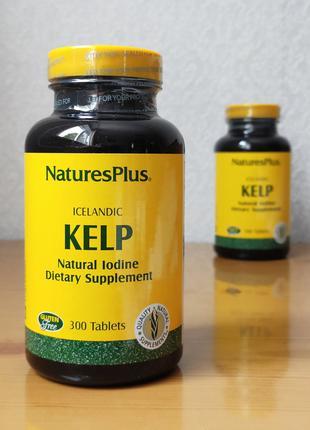 Icelandic Kelp, келп, источник йода, 150 мг,Natures Plus, 300 таб