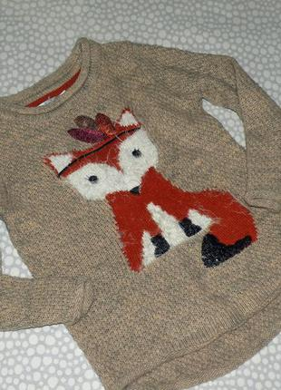 Свитер лисичка 5-6 лет