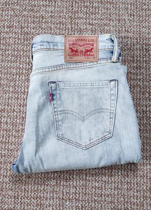 Levi's 511 slim fit джинсы оригинал (w34 l30) как новые