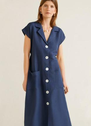 Летнее платье рубашечного стиля