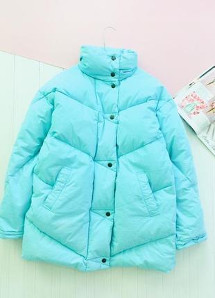 Oбъемный  пуффер зимнее пальто одеяло пуховик натуральный пух ...