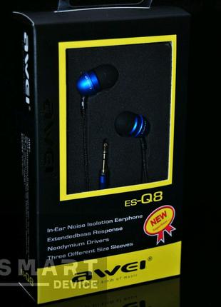 Awei Q8 проводные вакуумные наушники
