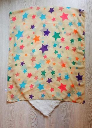 Бежевый широкий платок шарф шифон длинный квадратный парео цве...