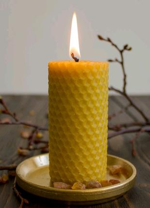 Свечи вощина ручной работы катаные