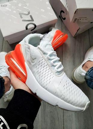 Nike air max 270 flyknit white orange