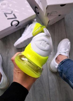 Nike air max 270 flyknit white green