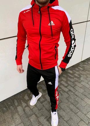 Спортивный костюм Adidas. Спортивный костюм Адидас Красный
