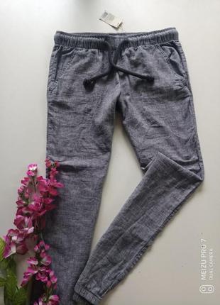 Льняние штани брюки от немецкого бренда esmara, 42р
