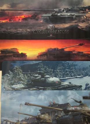 Игровая поверхность коврик для мышки world of tanks 30 x90
