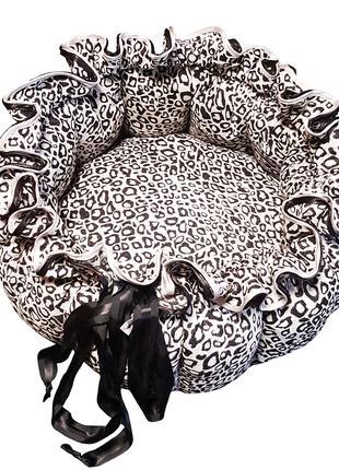 Лежанка трансформер для кота собаки Kuzya Production леопард