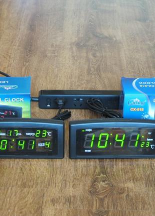 Часы CAIXING CX-868 часы будильник CX-818 настольные часы